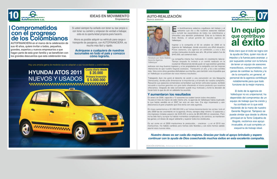 Newspaper Autofinanciera