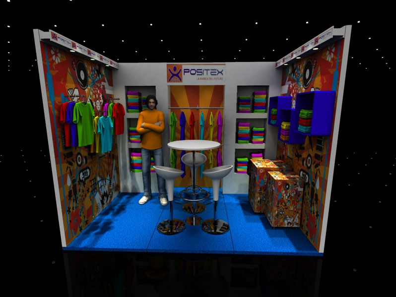 POSITEX - Design of space for fashion fair