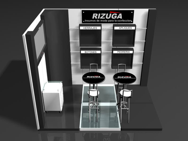 RIZUGA - Design of space for fashion fair